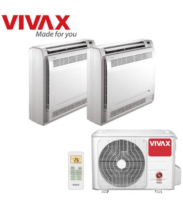 Aer Conditionat MULTISPLIT Pardoseala VIVAX ACP-18COFM50AERI / 2x ACP-09CTIFM25AERI Dublu Split Inverter