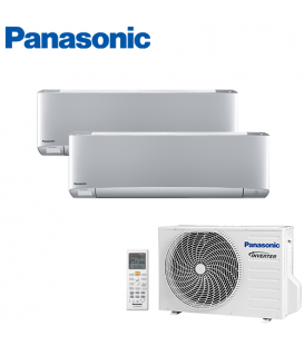 Aer Conditionat MULTISPLIT PANASONIC ETHEREA SILVER CU-2E18SBE / 2x CS-XZ12SKEW INVERTER 2x12k BTU/h