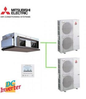 Aer Conditionat DUCT Mitsubishi Electric, PEA-RP400GAQ / 2 x PUHZ-P200YHA3 380V Standard Inverter 152000 BTU/h
