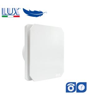 Ventilator axial de fereastra / perete / tavan LUX Levante 100, fabricat in Italia, clapet anti-retur, timer, debit 100 mc/h