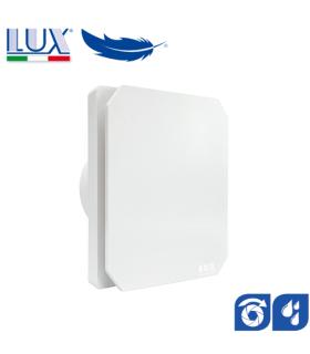 Ventilator axial de fereastra / perete / tavan LUX Levante 100, fabricat in Italia, clapet anti-retur, senzor umiditate, 100 mch