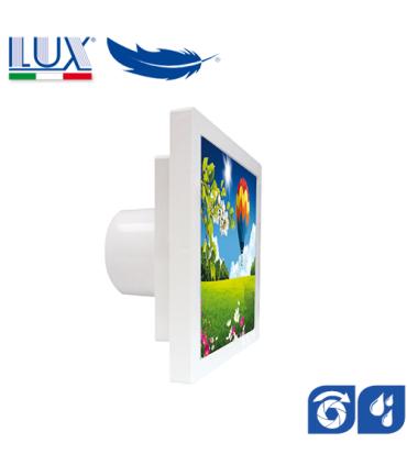 Ventilator axial LUX Grecale 100, fabricat in Italia, clapet anti-retur, senzor umiditate, debit 100 mc/h, diametru 100 mm