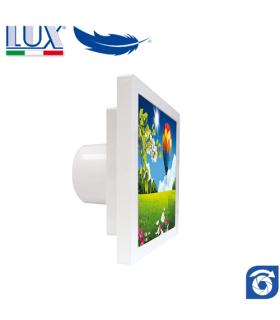 Ventilator axial LUX GRECALE 120, fabricat in Italia, clapet anti-retur, debit 140 mc/h