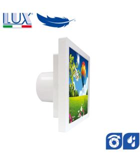 Ventilator axial LUX GRECALE 120, fabricat in Italia, clapet anti-retur, senzor umiditate, debit 140 mc/h