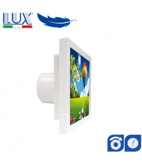 Ventilator axial LUX Grecale 150, fabricat in Italia, clapet anti-retur, timer, debit 160 mc/h