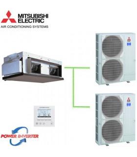 Aer Conditionat DUCT Mitsubishi Electric, PEA-RP500GAQ / 2 x PUHZ-RP250YKA 380V Power Inverter 190000 BTU/h