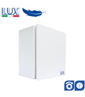 Ventilator centrifugal LUX Bora 80-100, fabricat in Italia, clapet anti-retur, timer, debit 130 mc/h