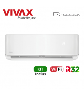 Aer Conditionat VIVAX R-Design ACP-09CH25AERI Wi-Fi Kit de instalare inclus R32 Inverter 9000 BTU/h
