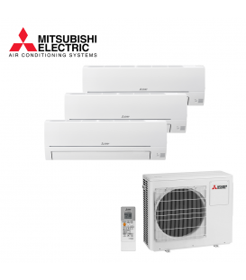 Aer Conditionat MULTISPLIT MITSUBISHI ELECTRIC MXZ-3HA50VF / 2x MSZ-HR25VF + MSZ-HR42VF Triplu Split R32 Inverter