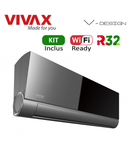 Aer Conditionat VIVAX V-Design ACP-12CH35AEVI GREY MIRROR Wi-Fi Ready Kit de instalare inclus R32 Inverter 12000 BTU/h