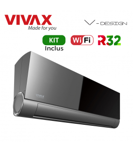 Aer Conditionat VIVAX V-Design ACP-12CH35AEVI GREY MIRROR Wi-Fi Kit de instalare inclus R32 Inverter 12000 BTU/h