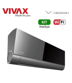 Aer Conditionat VIVAX V-Design ACP-18CH50AEVI BLACK MIRROR Wi-Fi Kit de instalare inclus Inverter 18000 BTU/h