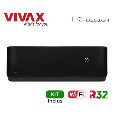 Aer Conditionat VIVAX R-Design ACP-09CH25AERI BLACK Wi-Fi Kit de instalare inclus R32 Inverter 9000 BTU/h