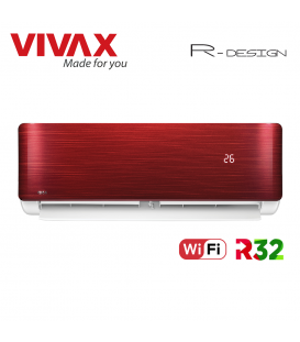 Aer Conditionat VIVAX R-Design ACP-09CH25AERI RED Wi-Fi R32 Inverter 9000 BTU/h