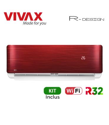 Aer Conditionat VIVAX R-Design ACP-09CH25AERI RED Wi-Fi Kit de instalare inclus R32 Inverter 9000 BTU/h