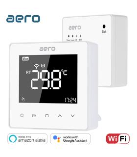 Termostat AERO TP618RF Wi-Fi, Wireless, Smart, pentru Centrala Terimica / Incalzire, Alexa, Google Assistant