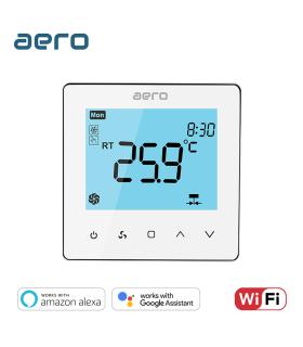 Termostat Ventiloconvector AERO TP528FC2W White, Wi-Fi, 2 tevi, pentru Incalzire / Racire / Ventilatie, alb
