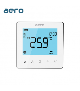 Termostat Ventiloconvector AERO TP528FC4 White, 4 tevi, pentru Incalzire / Racire / Ventilatie, alb