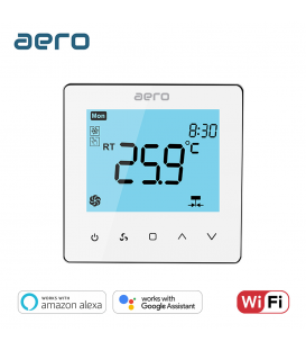Termostat Ventiloconvector AERO TP528FC4W White, Wi-Fi, 4 tevi, pentru Incalzire / Racire / Ventilatie, alb