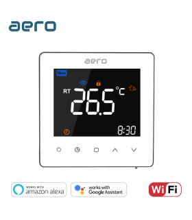 Termostat Incalzire AERO TP538WHPW White, Wi-Fi, pentru Incalzire Pardoseala / Centrala Terimica, alb