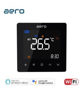 Termostat Incalzire AERO TP538WHPW Black, Wi-Fi, pentru Incalzire Pardoseala / Centrala Terimica, negru