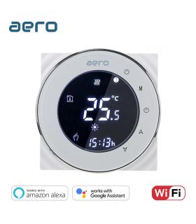 Termostat Incalzire AERO THP6000UHPW White, Wi-Fi, pentru Incalzire Pardoseala / Centrala Terimica / Incalzire Electrica, alb