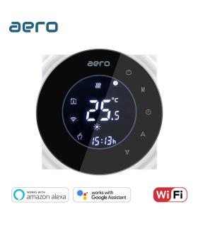 Termostat Incalzire AERO THP6000UHPW Black, Wi-Fi, pentru Incalzire Pardoseala / Centrala Terimica / Incalzire Electrica, negru