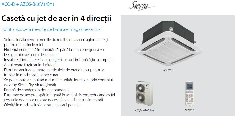 Aer Conditionat CASETA DAIKIN INVERTER SIESTA ACQ-D 28000 BTU/h