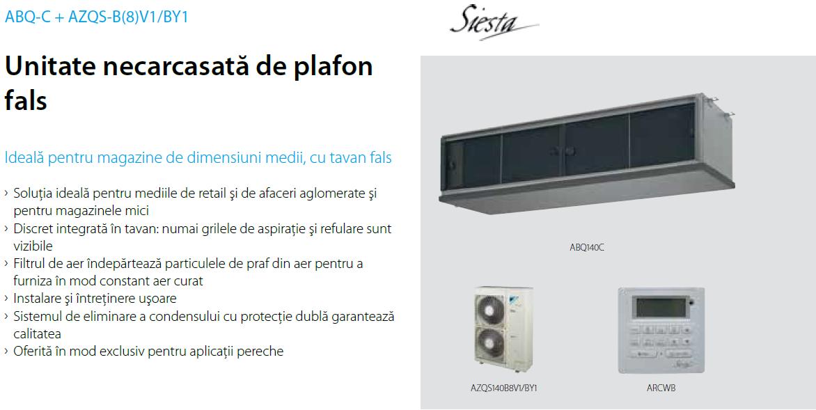 Aer Conditionat DUCT DAIKIN INVERTER SIESTA ABQ-C 36000 BTU/h