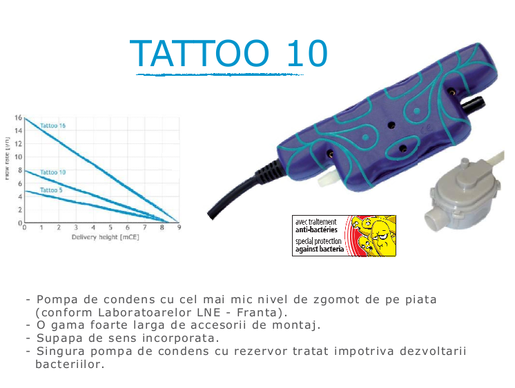 Pompa de condens Gotec - TATTOO 10